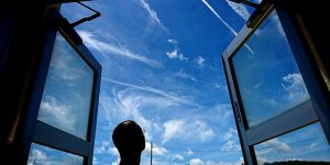 【台風去った後の青い空がキレイ】